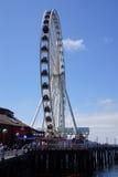 Большое колесо Сиэтл Стоковая Фотография