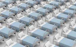 Большое количество кроватей Стоковое Изображение RF