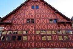Большое красное здание Стоковое Изображение