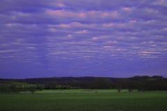 Большое небо фермы Стоковые Фотографии RF