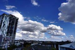 Большое облако в небе Стоковое Изображение
