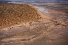 Большое озеро, воздушное фото Стоковое фото RF