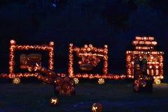 Большое пламя фонарика ` Джека o в Croton-на-Гудзоне в Нью-Йорке Стоковые Фото