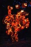 Большое пламя фонарика ` Джека o в Croton-на-Гудзоне в Нью-Йорке Стоковые Фотографии RF