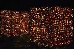 Большое пламя фонарика ` Джека o в Croton-на-Гудзоне в Нью-Йорке Стоковое Изображение