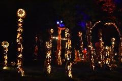 Большое пламя фонарика ` Джека o в Croton-на-Гудзоне в Нью-Йорке Стоковые Изображения RF