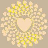 Большое сердце окруженное маленькими сердцами Стоковые Изображения RF