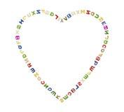 Большое сердце писем Стоковое Изображение