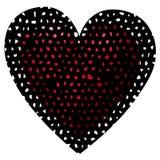 Большое сердце horor Стоковое фото RF