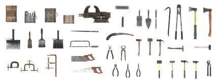 Большое собрание инструментов Стоковое Изображение