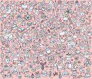 Большое собрание Кристмас в светотеневом Стоковая Фотография RF