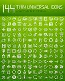 Большое собрание тонкого всеобщего комплекта значка сети иллюстрация вектора