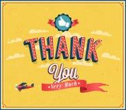 Большое спасибо винтажная эмблема Стоковая Фотография
