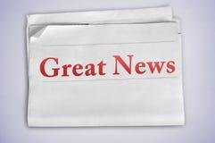 Большое слово новостей Стоковое Изображение RF