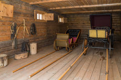 Большое Boldino Дом экипажа с конюшнями в запасе Pushkin музея Стоковые Фотографии RF