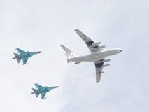 Большое IL-78 и 2 Su-34 Стоковое Изображение RF