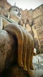 Большое staue Будды валюшки Srichum, Sukothai, Таиланда Стоковое Изображение RF