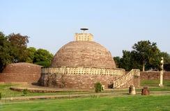 Большое stupa никакое 2 из sanchi Индии, буддийское всемирное наследие памятников стоковые фотографии rf