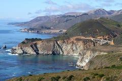 большое sur california Стоковые Фотографии RF