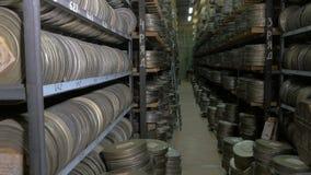 Большой архив фильма со своими многочисленными видеолентами видеоматериал