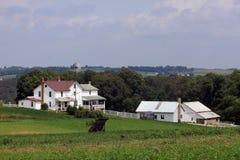 Большой белый дом фермы Стоковые Фото