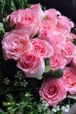 Большой букет цветка Розы пинка Wedding розовый подарок букета Стоковое Фото