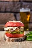 большой бургер вкусный Стоковая Фотография RF