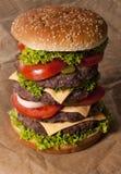 Большой бургер Стоковое Изображение
