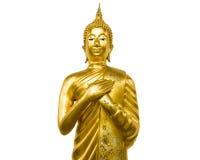 Большой Будда белая предпосылка Стоковые Фотографии RF