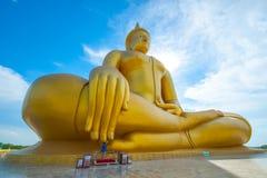 большой Будда золотистый Стоковые Изображения RF
