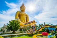 большой Будда золотистый Стоковые Изображения