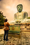 Большой Будда или большой Будда Камакуры Daibutsu стоковая фотография rf