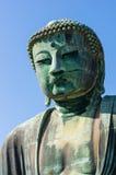 Большой Будда конца Камакуры вверх по съемке Стоковое фото RF