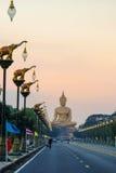 Большой Будда на Singburi Таиланде Стоковые Изображения RF