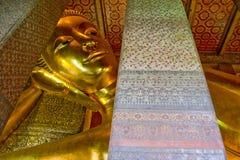 Большой Будда Wat Pho в Бангкоке, Таиланде Стоковые Изображения