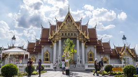Большой буддийский висок в Бангкоке Стоковые Фото