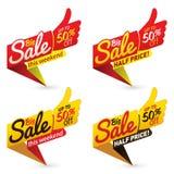 Большой вектор дела предложения продажной цены обозначает стикеры шаблонов Стоковая Фотография