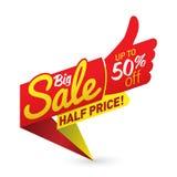 Большой вектор дела предложения продажной цены обозначает стикеры шаблонов Стоковые Изображения
