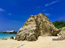 Большой взгляд aharen пляж в okinawa стоковые изображения