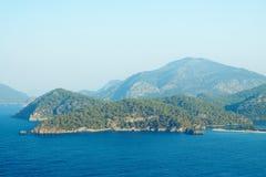 Большой взгляд Oludeniz, Турция, Средиземное море Стоковое фото RF