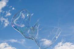Большой взрыв пузыря мыла Стоковое фото RF