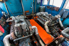 Большой двигатель шлюпки Стоковые Фото
