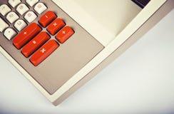 Большой винтажный калькулятор Стоковое фото RF