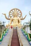 Большой висок Будды, Wat Phra Yai, Samui Стоковая Фотография RF