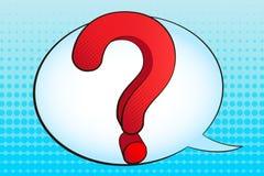 большой вопрос о метки Стоковая Фотография RF