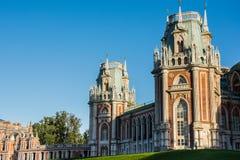 Большой дворец в ансамбле Tsaritsyno стоковая фотография