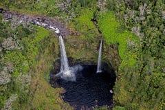 Большой водопад острова, вид с воздуха Стоковая Фотография