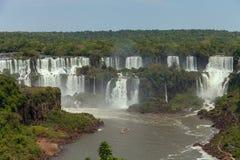 Большой водопад Iguazu Естественный интерес мира Стоковое фото RF