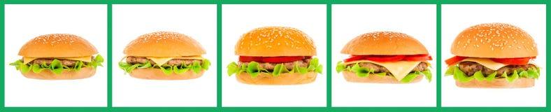 Большой гамбургер на белой предпосылке Стоковые Изображения