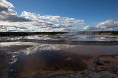 Большой гейзер фонтана Стоковые Фотографии RF